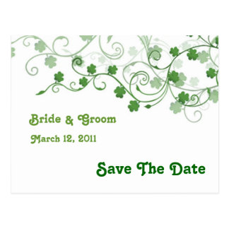 Clover Save The Date Postcard
