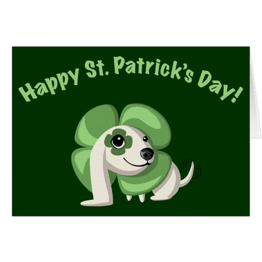 """Clover says """"Happy St. Patrick's Day!"""" Card"""
