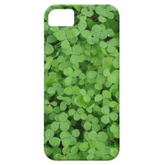 Clover Shamrock Irish Green Background iPhone SE/5/5s Case