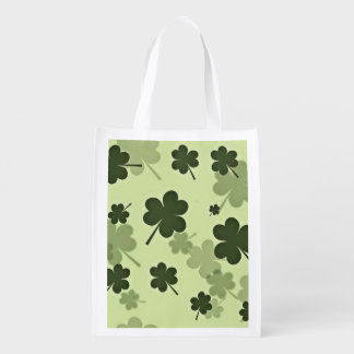 Clover Shamrock Of Saint Patrick'S Day Grocery Bag