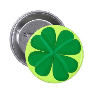Clover sheet four-leaf talismans button