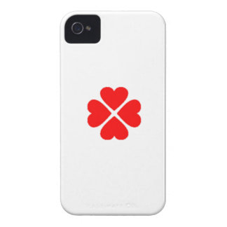 clover sheet heart sweet heart turn out well more  iPhone 4 cover
