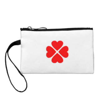 Clover sheet with heart, sweet heart, more glücksb coin wallet