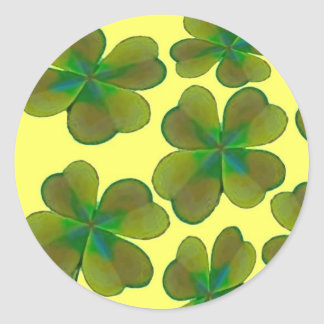 Clover sheets classic round sticker