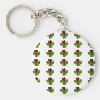 Clover sheets with heart keychain