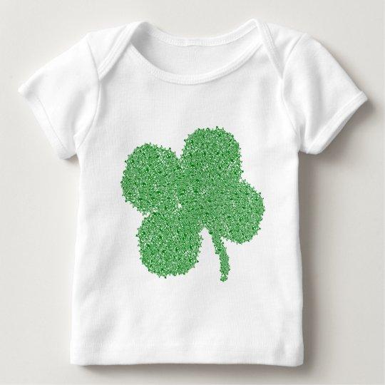 Clover Skulls - St Patrick's Day Lucky Green Baby T-Shirt