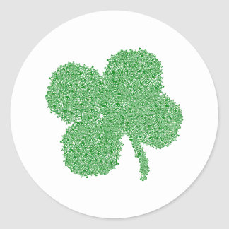 Clover Skulls - St Patrick's Day Lucky Green Classic Round Sticker