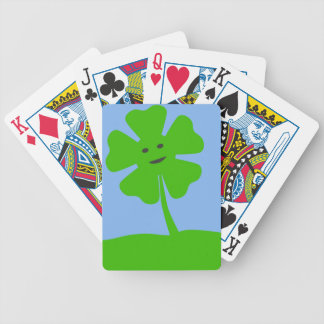 Clover-smile787 CARTOON FOUR LEAF CLOVER IRISH Bicycle Playing Cards