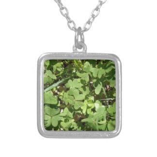 Clover Square Pendant Necklace