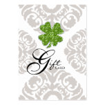 Clover St. Patty's Patricks Day Gift Certificate Large Business Cards (Pack Of 100)