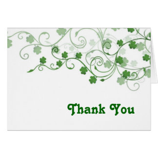 Clover Thank You card