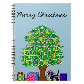 Clover the Cat's Christmas Notebook