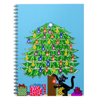 Clover the Cat's Christmas Spiral Notebook