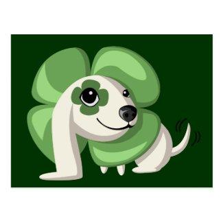 Clover the dog postcard