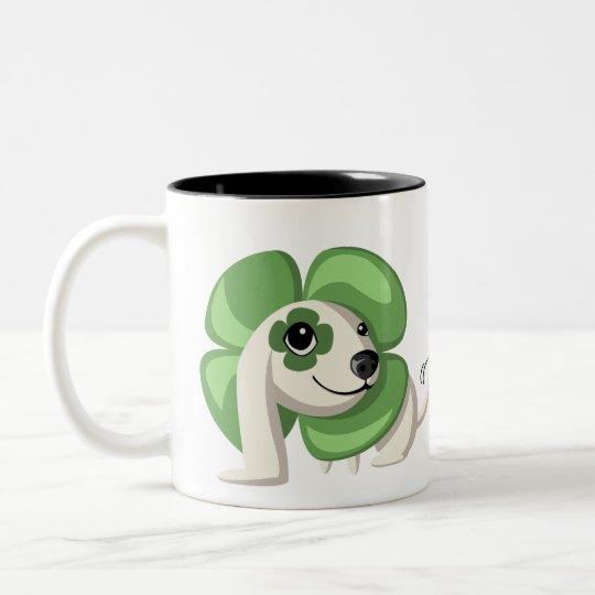 Clover the Dog Two-Tone Coffee Mug