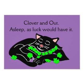 Clover The Lucky Black Cat Card