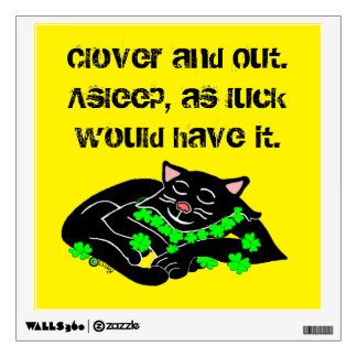 Clover The Lucky Black Cat on The Wall Wall Sticker