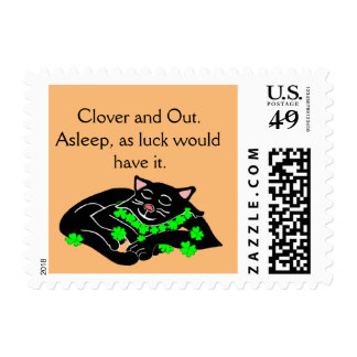 Clover The Lucky Black Cat Postage