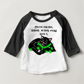 Clover The Lucky Black Cat Sweet Baby Dreams Baby T-Shirt