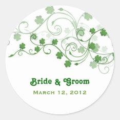 Clover Wedding Stickers at Zazzle