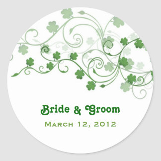 Clover Wedding Stickers