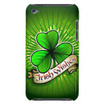 Clover with 'Irish Wishes' banner Barely There iPod Covers