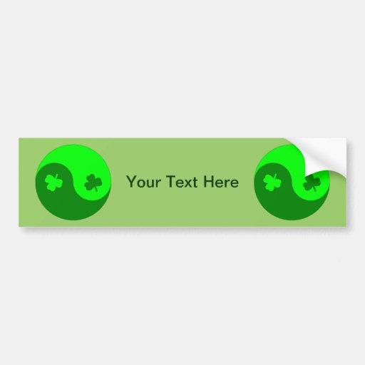 Clover Yin Yang Bumper Sticker