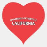 Cloverdale-Geyserville California Pegatinas Corazon Personalizadas