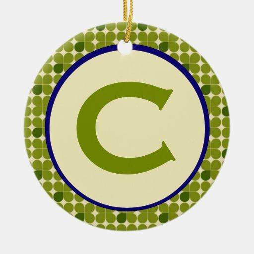 Cloverfield Monogram Ceramic Ornament