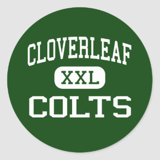 Cloverleaf - Colts - High School - Medina Ohio Classic Round Sticker