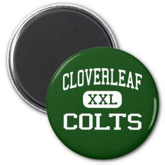 Cloverleaf - potros - High School secundaria - Med Imán Redondo 5 Cm