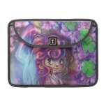 Clovers and Cherry Bloosoms Geisha Flap Sleeve Sleeve For MacBook Pro