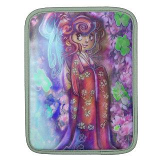 Clovers and Cherry Blossoms Geisha iPad Sleeve iPad Sleeve