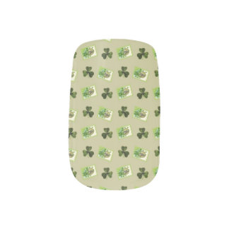 Clovers and Gold Minx Nail Wraps