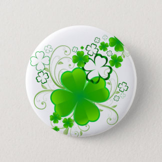 Clovers and Swirls Button