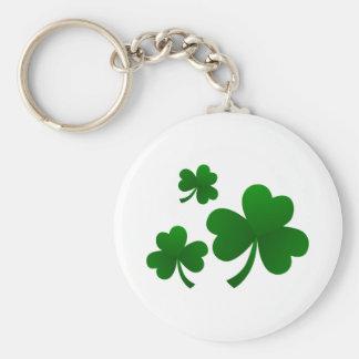 Clovers Basic Round Button Keychain