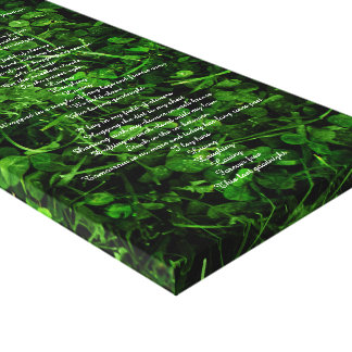 Clovers Canvas Print
