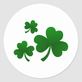 Clovers Classic Round Sticker