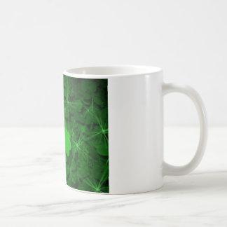 clovers - hidden beneath the moonlight classic white coffee mug