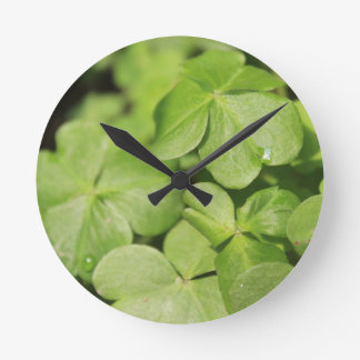 Clovers Round Clock