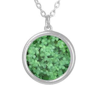 Clovers Round Pendant Necklace