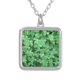 Clovers Square Pendant Necklace