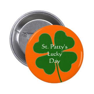 clovertemplate día afortunado del St Patty Pins