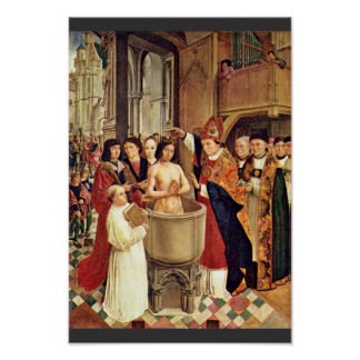 Clovis' Baptism By Meister Des Heiligen Ägidius (B Poster