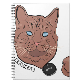 Clovis Believe With Tag Notebook