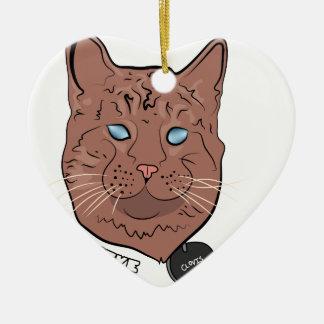 Clovis cree con la etiqueta adorno navideño de cerámica en forma de corazón