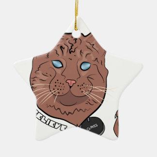 Clovis cree con la etiqueta adorno navideño de cerámica en forma de estrella