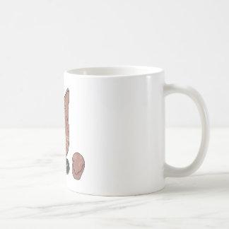 Clovis cree con la etiqueta taza básica blanca