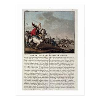 Clovis I (c.466-511) at the Battle of Tolbiac, 496 Postcard