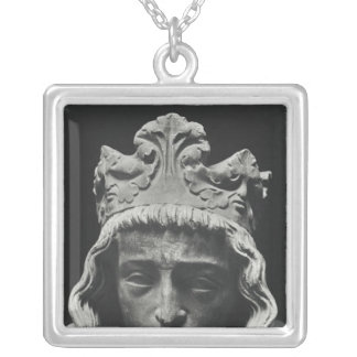 Clovis II , Merovingian Frankish Silver Plated Necklace